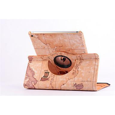 wereldkaart 360⁰ geval ontwerp stand functie van hoge kwaliteit pu lederen tas voor iPad 2 lucht (assorti kleur)