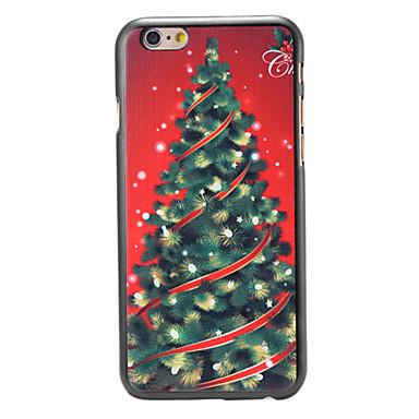 natal árvore estilo luxo padrão pc tampa traseira dura para o iPhone 6