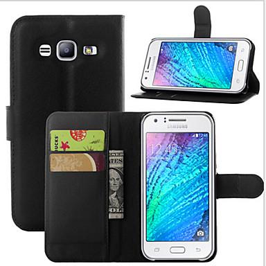 Capinha Para Samsung Galaxy Samsung Galaxy Capinhas Porta-Cartão Carteira Com Suporte Flip Capa Proteção Completa Côr Sólida PU Leather