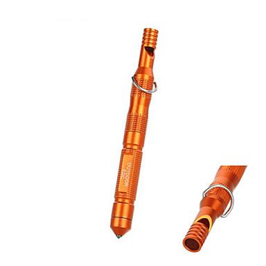 outdoor waterbestendig magnesium staaf vuursteen vuur starter met fluitje&alcohol katoen - (oranje&zwart)