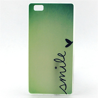 For Huawei Case Other Case Back Cover Case Word / Phrase Soft TPU Huawei