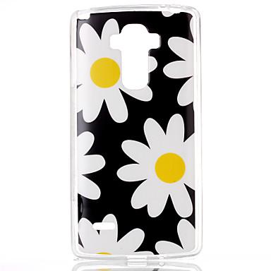 Para Capinha LG Case Tampa Estampada Capa Traseira Capinha Flor Macia PUT para LG LG G4 Stylus / LS770