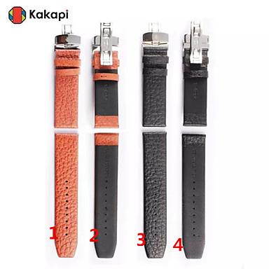 Horlogeband voor Apple Watch Series 3 / 2 / 1 Apple Polsband Butterfly Buckle Echt leer