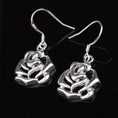 Druppel oorbellen Verzilverd Zilver Sieraden Voor Bruiloft Feest Dagelijks Causaal 2 stuks