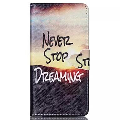 Capinha Para Huawei P8 Lite Capinha Huawei Carteira Porta-Cartão Com Suporte Corpo Inteiro Palavra / Frase Rígida Couro Ecológico para