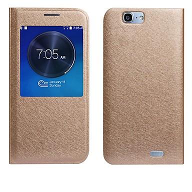 seda de alta qualidade da textura capa de couro pu para Huawei Ascend g7 (cores sortidas)