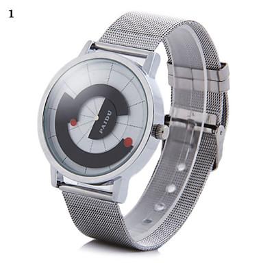 Χαμηλού Κόστους Ανδρικά ρολόγια-Ανδρικά Ρολόι Καρπού Μοναδικό Creative ρολόι Χαλαζίας Ασημί Αναλογικό 2# 3 Κιλά 4#