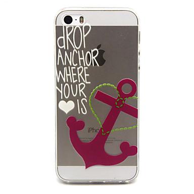 Para Capinha iPhone 5 Case Tampa Transparente Capa Traseira Capinha Palavra / Frase Macia PUT para iPhone SE/5s iPhone 5