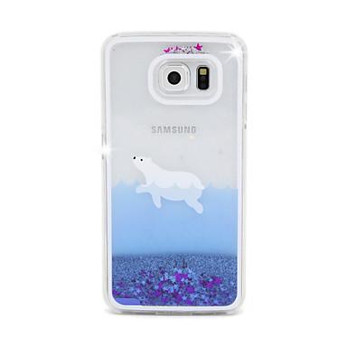 Para Samsung Galaxy Capinhas Liquido Flutuante Capinha Capa Traseira Capinha Desenho PC Samsung S6 edge / S6