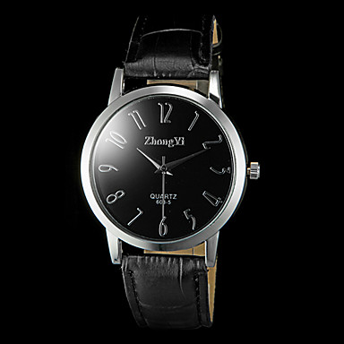 Муж. Кварцевый Наручные часы Повседневные часы PU Группа Кулоны Черный Коричневый