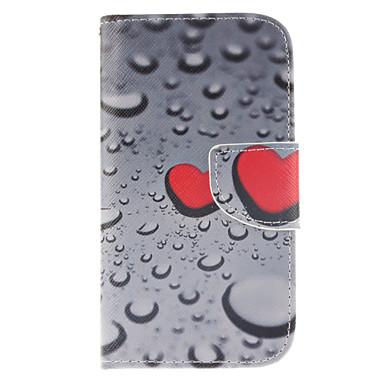 Para Samsung Galaxy Capinhas Carteira / Porta-Cartão / Com Suporte / Flip Capinha Corpo Inteiro Capinha Coração Couro PU Samsung S4