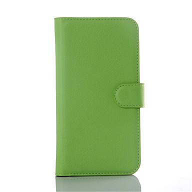 Para Samsung Galaxy Capinhas Porta-Cartão / Carteira / Com Suporte / Flip Capinha Corpo Inteiro Capinha Cor Única Couro PU SamsungS6
