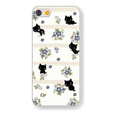 tok Για Θήκη iPhone 5 Με σχέδια Πίσω Κάλυμμα Γάτα Σκληρή PC για iPhone SE/5s iPhone 5