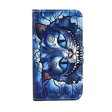 tok Για Samsung Galaxy Samsung Galaxy Θήκη Θήκη καρτών Πορτοφόλι με βάση στήριξης Ανοιγόμενη Πλήρης Θήκη Γάτα PU δέρμα για S5 Mini S4