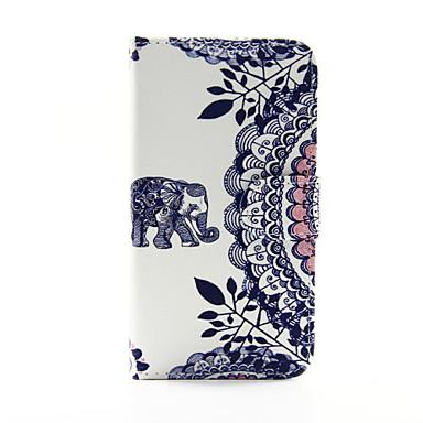 Para Samsung Galaxy Capinhas Carteira / Porta-Cartão / Com Suporte / Flip Capinha Corpo Inteiro Capinha Elefante Couro PU SamsungS5 / S4