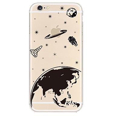 universo material TPU caso de telefone macio para iphone 6 mais / 6s mais