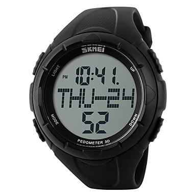 billige Herreure-SKMEI Herre Sportsur Armbåndsur Digital Watch Digital Gummi Sort / Grøn 30 m Vandafvisende Alarm Kalender Digital Vedhæng - Sort Grøn / Kronograf / LCD