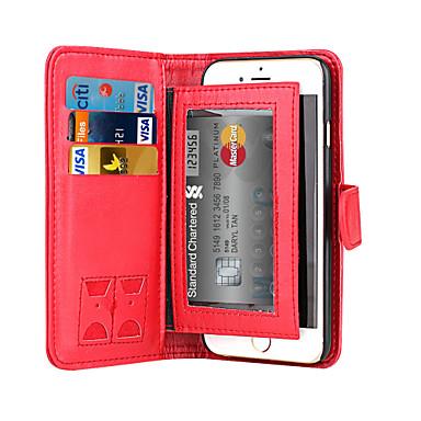 Voor iPhone X iPhone 8 iPhone 6 Hoesje cover Portemonnee Kaarthouder Flip Magnetisch Volledige behuizing hoesje Effen Kleur Hard PU-leer