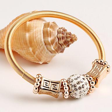 Bracelete Vintage Festa Trabalho Liga Jóias Jóias de fantasia Dourado
