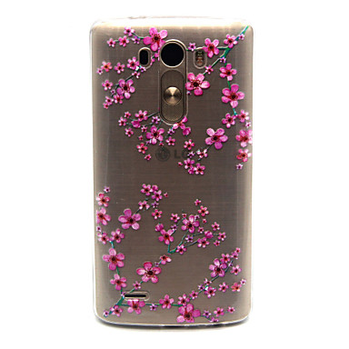 tok Για LG G3 LG Θήκη LG Διαφανής Πίσω Κάλυμμα Λουλούδι Μαλακή TPU για LG Spirit / LG C70 H422