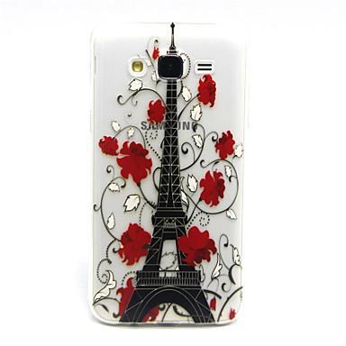 Para Samsung Galaxy Capinhas Case Tampa Transparente Capa Traseira Capinha Torre Eiffel PUT para Samsung Galaxy J5