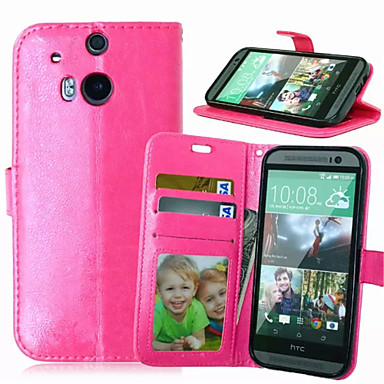 tok Για HTC Θήκη HTC Θήκη καρτών Πορτοφόλι με βάση στήριξης Ανοιγόμενη Πλήρης Θήκη Συμπαγές Χρώμα Σκληρή PU δέρμα για