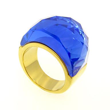 Anéis Diário / Casual / Esportes Jóias Aço Inoxidável / Chapeado Dourado Feminino / Masculino / Casal Anéis Grossos 1pç,6 / 7 / 8 / 9