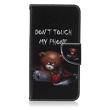 Voor Samsung Galaxy Note Portemonnee / Kaarthouder / met standaard / Flip hoesje Volledige behuizing hoesje Cartoon PU-leer SamsungNote 5