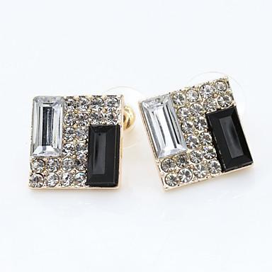 Women's Stud Earrings Elegant European Imitation Diamond Alloy Jewelry Daily