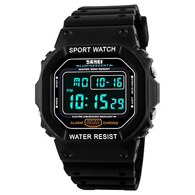 SKMEI Heren Digitaal Polshorloge / Sporthorloge Alarm / Kalender / Chronograaf / Waterbestendig / Cool PU Band Zwart