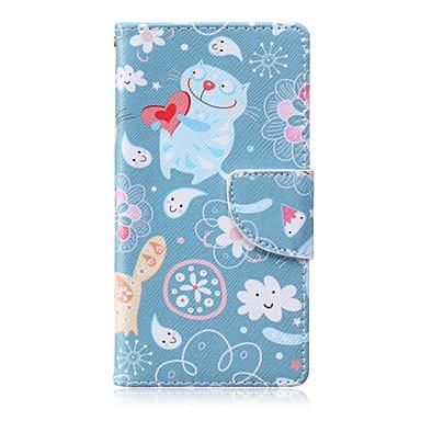 Para Capinha Huawei P8 Lite Case Tampa Carteira Porta-Cartão Com Suporte Corpo Inteiro Capinha Desenho Animado Rígida Couro Ecológico para