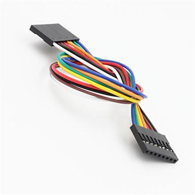 DuPont 8-pin 2.54mm vrouwelijke aan vrouwelijke extensie aderige kabel voor Arduino- (20cm)