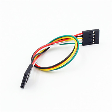 DuPont 5 pinos fêmea para 2,54 milímetros cabo de fio de extensão do sexo feminino para arduino- (20cm)