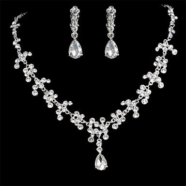 Dames Sieraden Set Druppel oorbellen Bergkristal Elegant Bruids Bruiloft Feest Speciale gelegenheden  Verjaardag Verloving Dagelijks