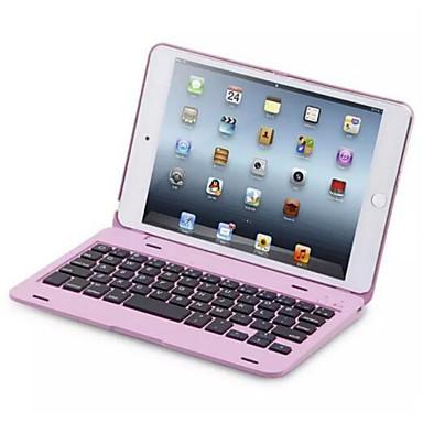 Capinha Para iPad Mini 4 Com Suporte Com Teclado Flip Capa Proteção Completa Côr Sólida Rígida PC para