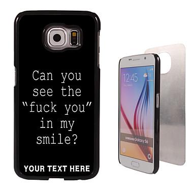 Para Samsung Galaxy Capinhas Estampada Capinha Capa Traseira Capinha Palavra / Frase PC SamsungS6 edge plus / S6 edge / S6 / S5 Mini / S5