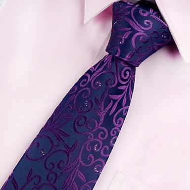 cheap Men's Neckties-Men's Party / Work / Basic Necktie - Geometric Print