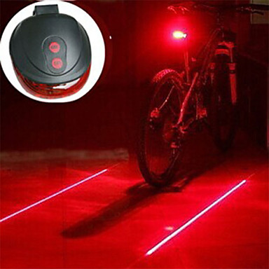 Laser LED Bike Light Bike Light Lanterns & Tent Lights Rear Bike Tail Light - Mountain Bike MTB Cycling Impact Resistant LED Light Easy Carrying AAA 400 lm Battery Camping / Hiking / Caving Cycling