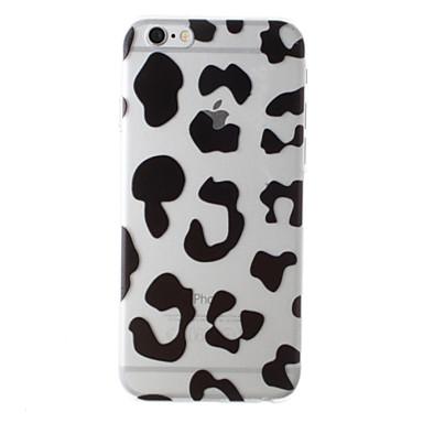 Para Capinha iPhone 6 Capinha iPhone 6 Plus Case Tampa Transparente Estampada Capa Traseira Capinha Estampa de Leopardo Rígida PC para