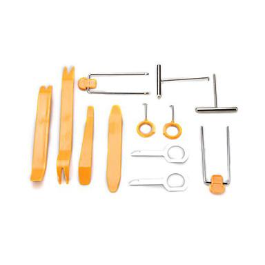 voordelige Reparatiegereedschap-12 stuk universele auto stereosysteem dashboard bekleding verwijderen plastic wrikken tool kit set