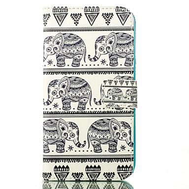 elefante cartão padrão de capa de couro suporte para Samsung Galaxy J1 / J5