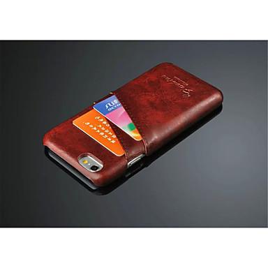 olie wax stijl case cover kaartsleuf case voor de iPhone 6 / 6s (assorti kleur)