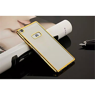 Voor Huawei hoesje / P8 / P8 Lite Beplating / Ultradun / Transparant hoesje Achterkantje hoesje Effen kleur Zacht TPU HuaweiHuawei P8 /