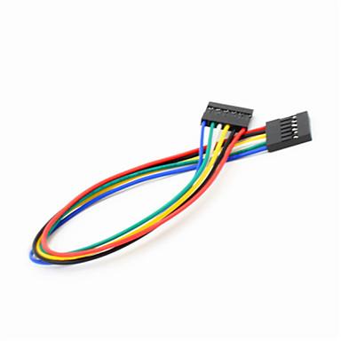 DuPont 6-pin 2.54mm vrouwelijke aan vrouwelijke extensie aderige kabel voor Arduino- (20cm)
