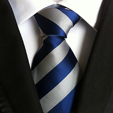 cheap Men's Neckties-Men's Party / Work / Basic Necktie - Striped