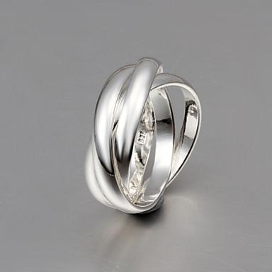 Heren Dames Voor Stel Bandringen Kostuum juwelen Sterling zilver Sieraden Voor Bruiloft Feest Dagelijks Causaal