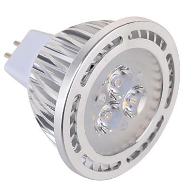 GU5.3(MR16) Lâmpadas de Foco de LED MR16 3 leds SMD Decorativa Branco Quente Branco Frio 450lm 2800-3200/6000-6500K AC 85-265 AC 12V