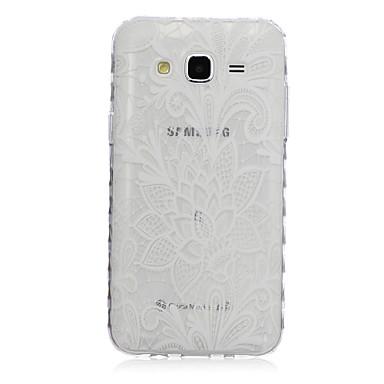 Para Samsung Galaxy Capinhas Transparente / Estampada Capinha Capa Traseira Capinha Flor TPU SamsungJ7 / J5 / J3 / J2 / J1 Ace / J1 /