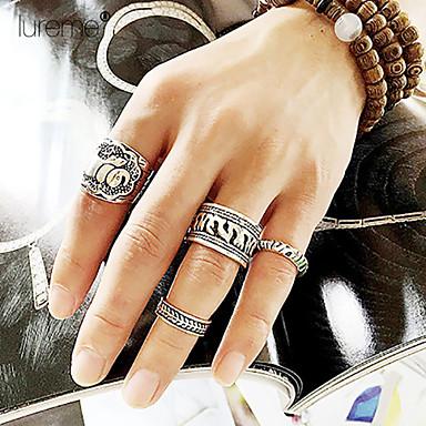 Bandringen Kristal Zirkonia Kubieke Zirkonia imitatie Diamond Legering Zilver Gouden Sieraden Bruiloft Feest Dagelijks Causaal 1 Set