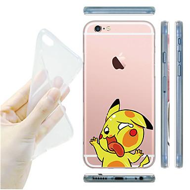 Voor iPhone X iPhone 8 iPhone 6 iPhone 6 Plus Hoesje cover Transparant Achterkantje hoesje Cartoon Zacht TPU voor iPhone X iPhone 7s Plus